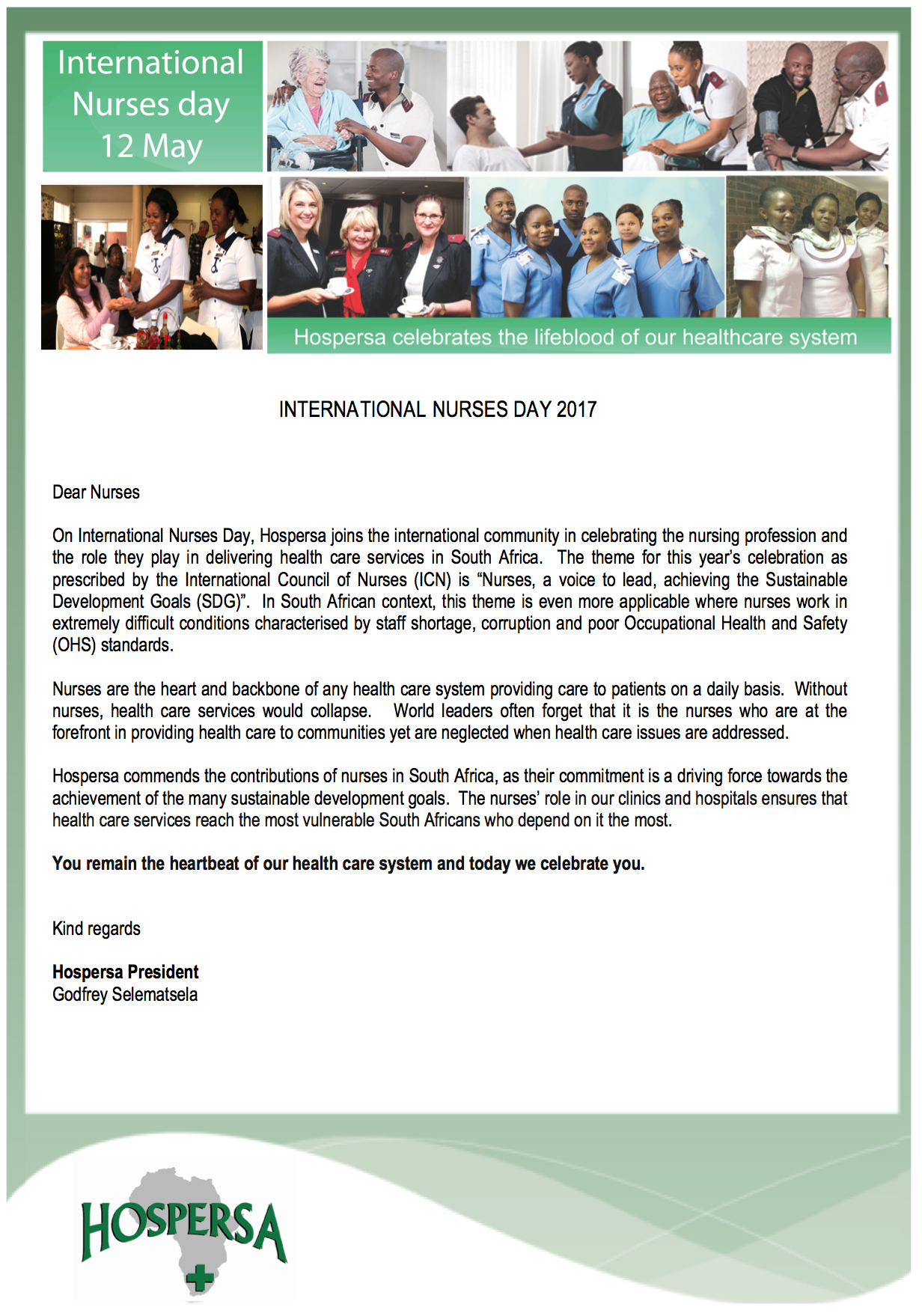 International Nurses Day 2017