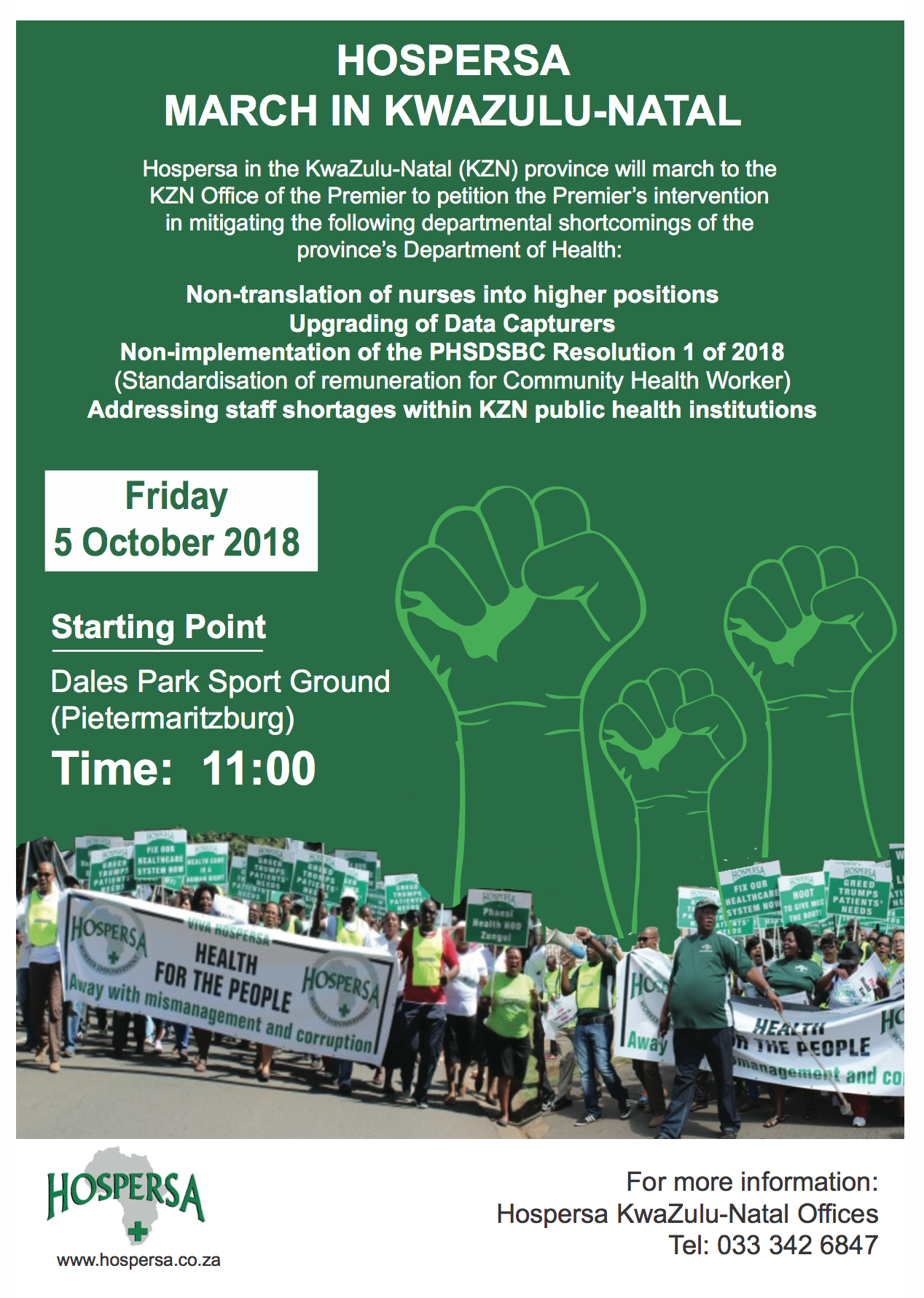 HOSPERSA MARCH IN KWAZULU-NATAL