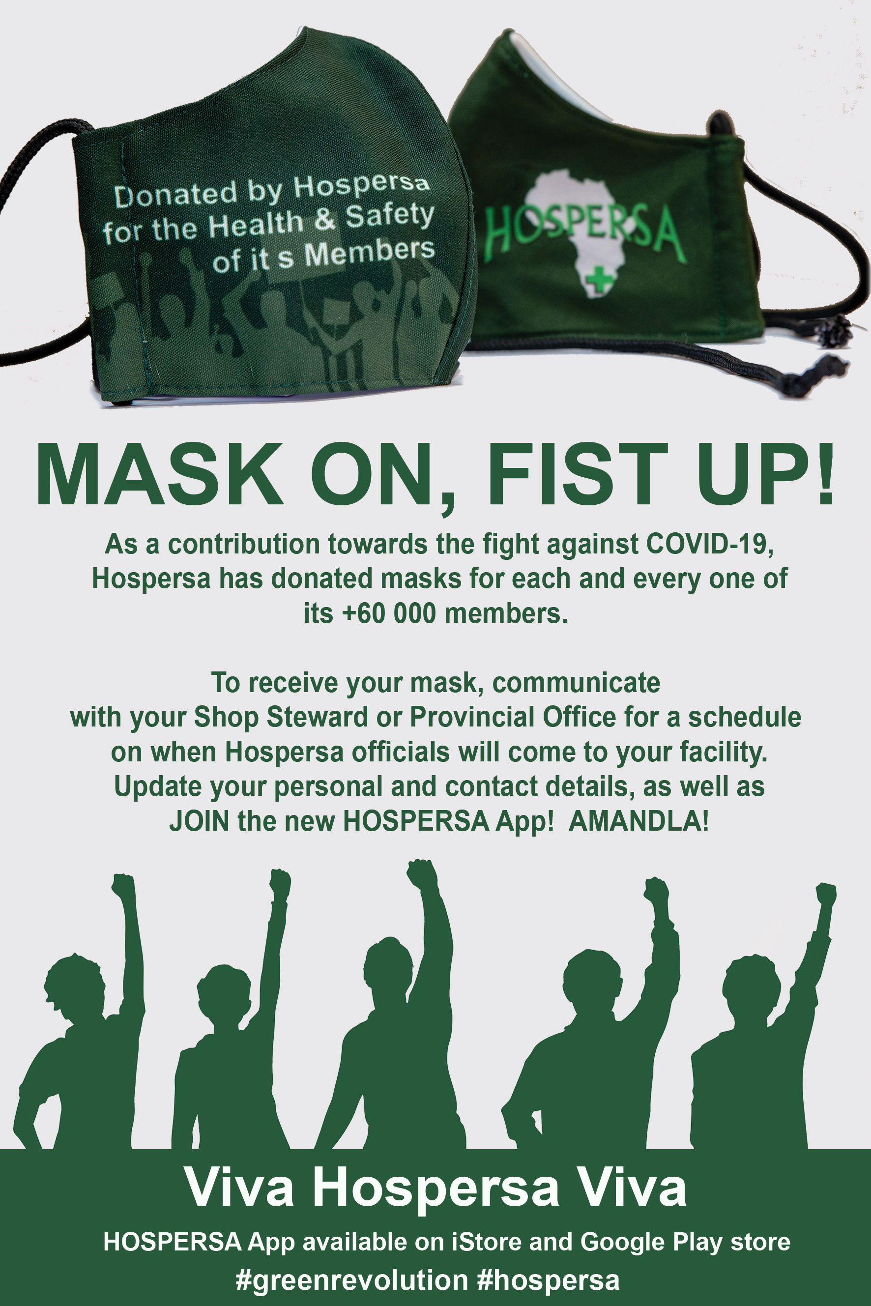 MASK ON, FIST UP!